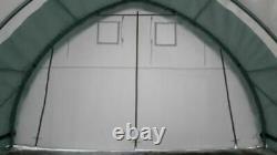 20x30x12 Canvas Fabric Tarp Storage Building Shop Shelter Metal Frame NEW