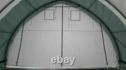 20x30x12 -ROUND ROOF- GM Canvas Tension Fabric Tarp Storage Building