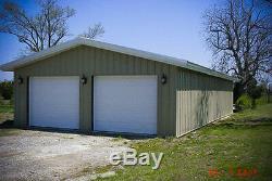 25'x45'x14' Steel Garage/Workshop Building Kit Excel Metal Building Systems Inc