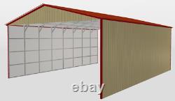30 x 40 Metal Building Prefabricated Steel Hay Barn Mondo Homz