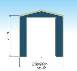 32x18x17 Camper RV Motorhome Storage Garage Stall Port Metal frame building