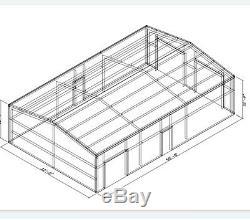 32x50x12 steel metal building/ car garage/ farm/ commercial /many sizes