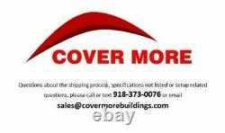 40'x40' Shipping Cargo Container Conex Fabric Building Shelter Garage Carport