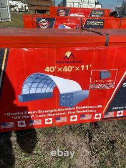 40'x40' Shipping Cargo Container Conex Fabric Building Shelter Garage Storage