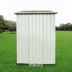 4' x 6' DIY Backyard Steel Garden Shed Storage Kit Building Doors Outdoor MX