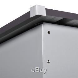 4' x 6' Outdoor Storage Shed Steel Garden Utility Tool Backyard Building Garage