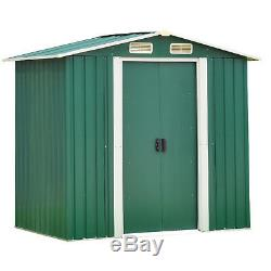 6' x 4' Garden Storage Shed Steel Garage Utility Tool Building Outdoor withDoor