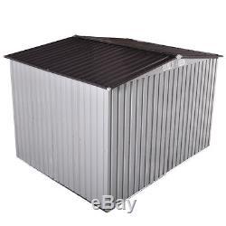 6' x 8' Garden Shed Storage Kit DIY Backyard Metal Building Doors Outdoor Steel