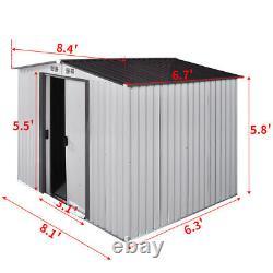 6' x 8' Shed Storage Kit Metal Garden Building Doors Steel Outdoor DIY Backyard
