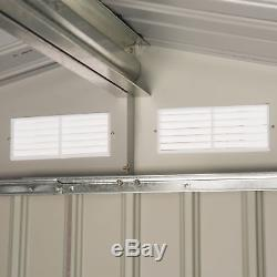 7'x4' Steel Outdoor Garden Storage Shed All Weather Tool Utility Backyard Lawn