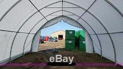 85x30x15 PVC Fabric Dome Building Metal Frame New in Steel Shipping Crate