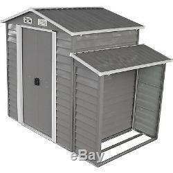 8'x5' Outdoor Garden Garage Storage Shed Utility Tool Lawn Building withDoor Gary