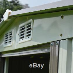 8' x 6' Garden Storage Shed Steel Garage Utility Tool Building Outdoor withDoor