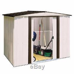 Arrow Newport 8 ft. X 6 ft. Steel Shed Yard Garden Sheds Shelter Metal Building