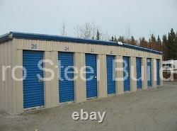 DURO Steel Mini Self Storage 10x60x8.5 Metal Prefab Building Structures DiRECT