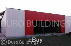 DuroBEAM Steel 100x200x14 Metal Red Iron Clear Span Rigid Frame Building DiRECT