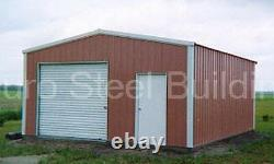 DuroBEAM Steel 20x25x10 Metal Rigid Frame Clear Span Garage Building Kit DiRECT