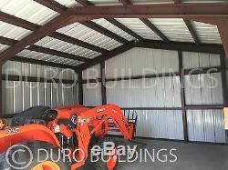 DuroBEAM Steel 24x30x12pr Metal Garage Workshop DIY Bolt up Building Kits DiRECT