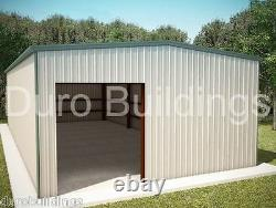 DuroBEAM Steel 25x48x12 Metal Garage Workshop Residential Building Kits DiRECT