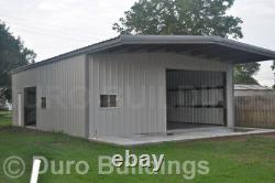 DuroBEAM Steel 30x40x14 Metal Building with 10 ft Self Supporting Canopy DiRECT