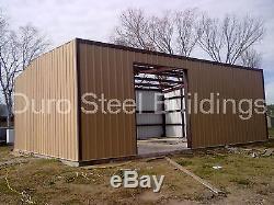 DuroBEAM Steel 30x50x12 Metal Clear Span Garage Shop Storage Building Kit DiRECT