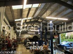 DuroBEAM Steel 50x104x19 Metal Garage DIY Auto Lift Workshop Building Kit DiRECT