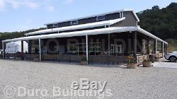 DuroBEAM Steel 56X60x16 Metal Monitor Style Building & Wrap Around Canopy DiRECT