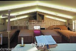 DuroBEAM Steel 65'x125'x20 Metal Made To Order Church Building Structures DiRECT