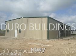 DuroBEAM Steel 75'x80'x17' Metal DIY Building Kit Made To Order Workshop DiRECT