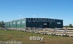 DuroBEAM Steel 80x80x20 Metal Building Clear Span 50'x18' Framed Opening DiRECT