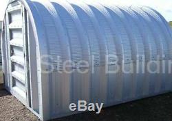 DuroSPAN Steel 16x25x11 Metal Building Shop Kit DIY Home Sheds Open Ends DiRECT
