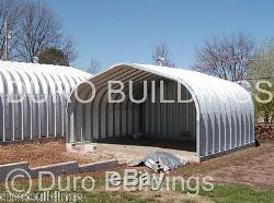 DuroSPAN Steel 20x34x16 Metal Building Workshop DIY Garage Kit Open Ends DiRECT