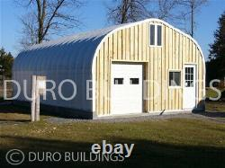 DuroSPAN Steel 25x28x13 Metal Straight Wall Arch Building Kits Open Ends DiRECT