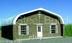DuroSPAN Steel 25x38x13 Metal Gabled Roof Building Kit Open Ends Factory DiRECT