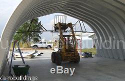 DuroSPAN Steel 25x40x12 Metal Arch Building Carport Kit Open Ends Factory DiRECT