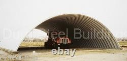 DuroSPAN Steel 28x28x12 Metal Quonset Arch Building Kit Open Ends Factory DiRECT