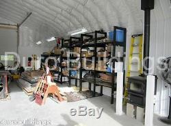 DuroSPAN Steel 30x26x14 Metal Building DIY Home Workshop Shed Open Ends DiRECT