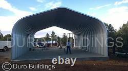 DuroSPAN Steel 30x27x14 Metal Building Open Ends DIY Structures Factory DiRECT
