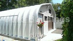 DuroSPAN Steel 32x40x14 Metal Garage Home Shop DIY Building Kit Open Ends DiRECT