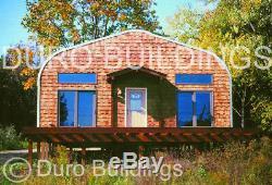 DuroSPAN Steel 32x40x18 Metal Garage Shop DIY Home Building Kit Open Ends DiRECT