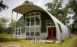 DuroSPAN Steel 40'x32'x20' Metal Quonset DIY Home Building Kit Open Ends DiRECT