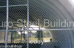 DuroSPAN Steel 40'x54'x16' Metal Building Home Batting Cage Kit Open Ends DiRECT