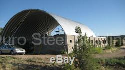 DuroSPAN Steel 40x40x16 Metal Quonset Hut Building Kit Open Ends Factory DiRECT