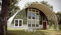 DuroSPAN Steel 45'x70'x18' Metal Quonset DIY Home Building Kits Open Ends DiRECT