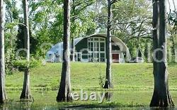DuroSPAN Steel 50'x36'x17' Metal Quonset DIY Home Building Kits Open Ends DiRECT