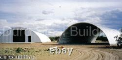 DuroSPAN Steel 50'x46'x17' Metal Quonset DIY Home Building Kits Open Ends DiRECT