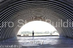 DuroSPAN Steel 50x46x17 Metal DIY Quonset Building Kits Open Ends Factory DiRECT