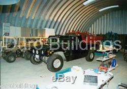 DuroSPAN Steel 50x50x19 Metal Quonset Building Kit DIY Hay Barn Open Ends DiRECT