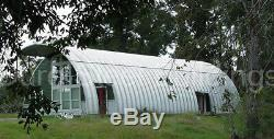 DuroSPAN Steel 51'x39'x17' Metal Arch Quonset DIY Building Kits Open Ends DiRECT