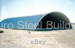 DuroSPAN Steel 51x100x17 Metal Quonset Hut Farm Building Kit Open Ends DiRECT